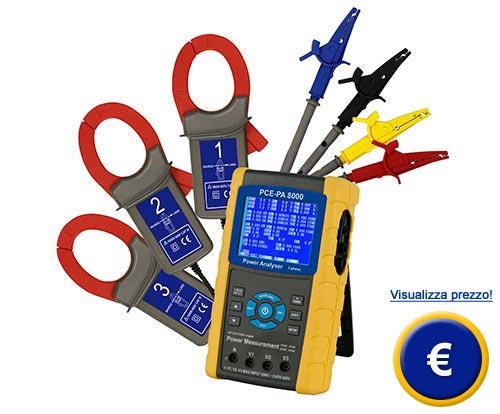 Analizzatore di potenza trifase PCE-PA 8000 sullo shop online
