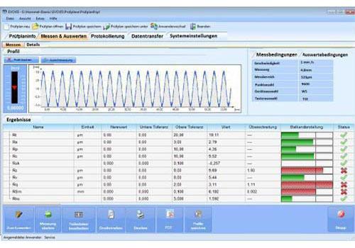 Software del rugosimetro
