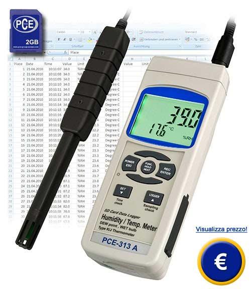 Igrometro con memory card SDPCE-313A sullo shop online