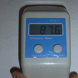 Immagine del misuratore del grado di bianco