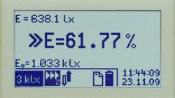 Misurazione di riferimento del luxmetro