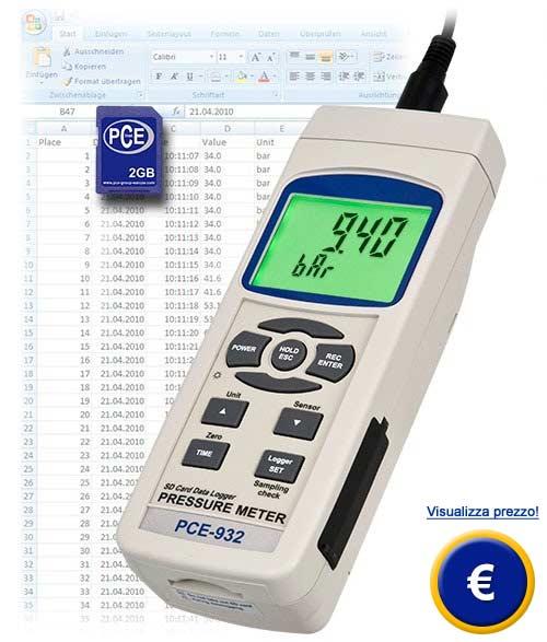 Manometro PCE-932 sullo shop online