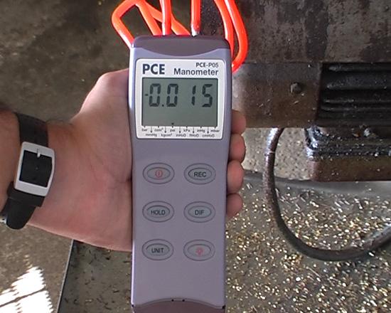 Misura della pressione su di un macchinario