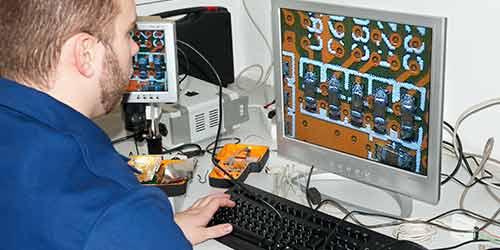 Collegamento del microscopio con un PC