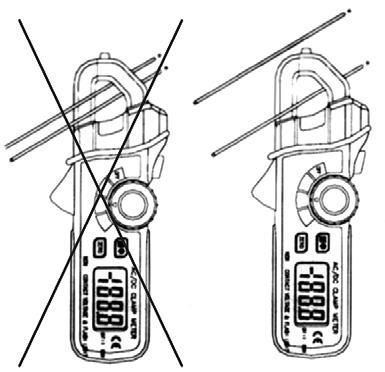 Preparazione per la misura con l'amperometro PCE-DC 3