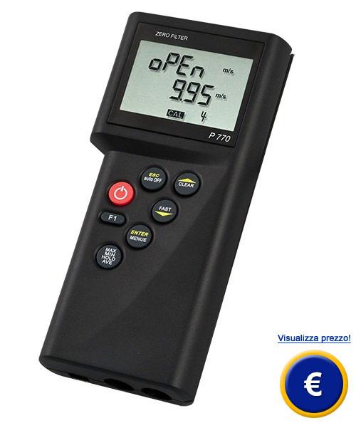 Misuratore di portata per aria e acqua P770-LOG sullo shop online