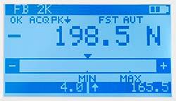 Display del misuratore di coppia della serie PCE-FB TS