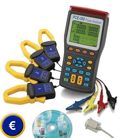 Misuratore di potenza trifase PCE-360 sullo shop online