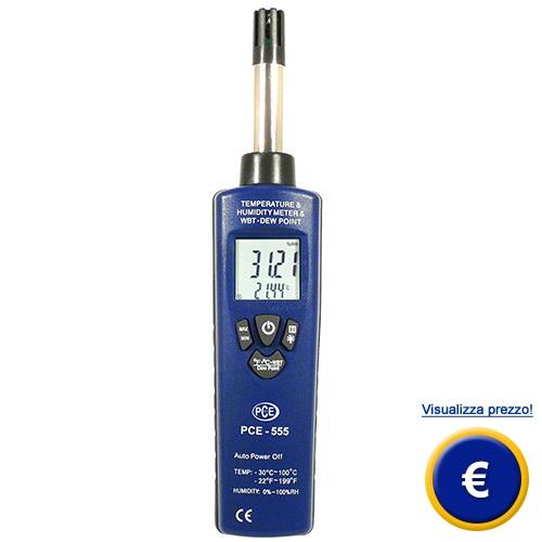 Misuratore di umidità per aria PCE-555