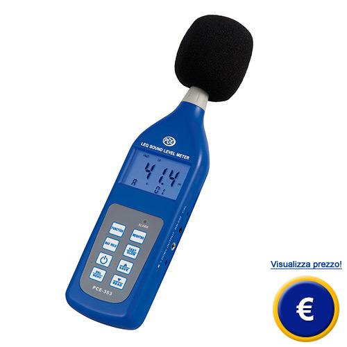 Misuratore del livello sonoro LEQ PCE-353 sullo shop online
