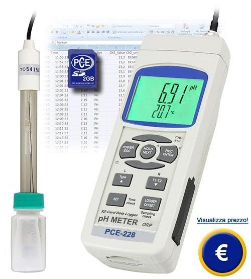 Misuratore di pH PCE-228 sullo shop online