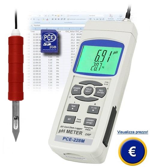 Misuratore di pH PCE-228M sullo shop online