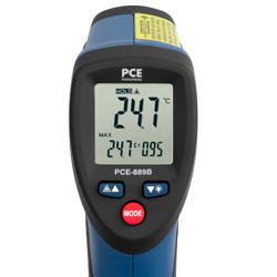 Display del termometro a infrarossi