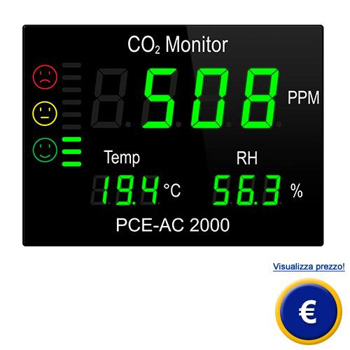Misuratore di CO2 PCE-AC 2000 sullo shop online
