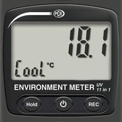 Display del misuratore climatologico