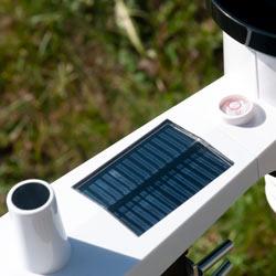 Pannellino solare della stazione meteo