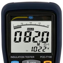 Display del misuratore di isolamento