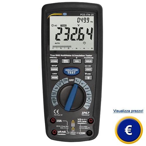 Multimetro di isolamento PCE-ITM 20 sullo shop online