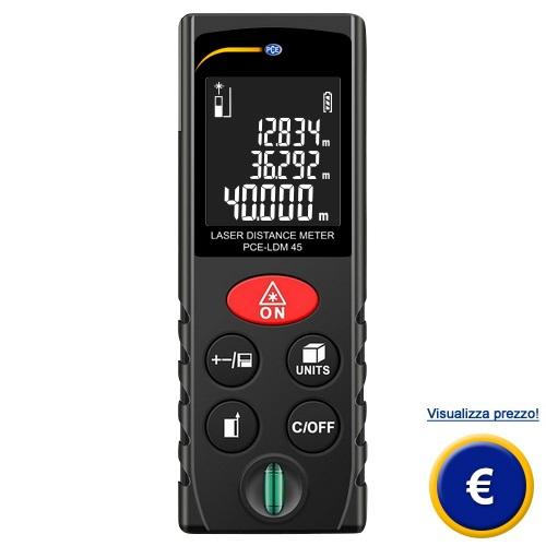Distanziometro laser PCE-LDM 45 sullo shop online