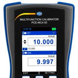 Display del calibratore