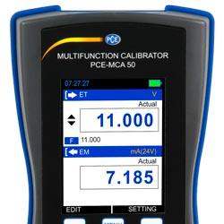 Display LCD del calibratore
