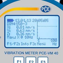 Display dell'accelerometro per edifici