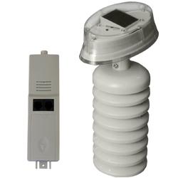 Questa è il sensore di temperatura ed umidità che include il trasmettitore con modulo solare