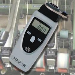 Il tachimetro digitale PCE-DT 100  ha un adattatore meccanico speciale per fili, fibre (di vetro) e fili di ferro.