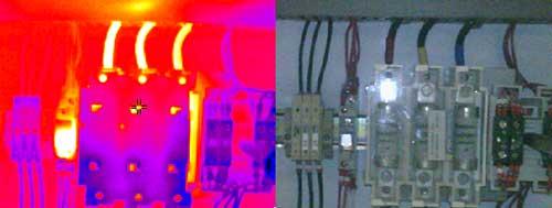 Uso della camera termografica nella manutenzione preventiva di un armadio di distribuzione