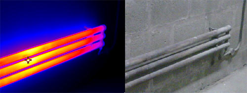 Immagine termica della camera termografica