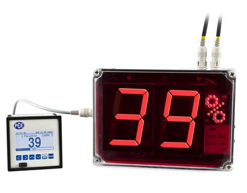 Il termoigrometro con ampio display ha un ampio uso grazie ai suoi due canali con uscita analogica