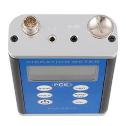 Connessioni nella parte superiore del vibrometro PCE-VM 3D