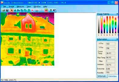 Le camere termografiche si consegnano con il software di valutazione corrispondente.