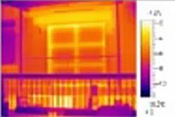 Immagine realizzata con camere termografiche nel balcone.
