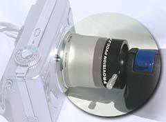 Endoscopi con adattatore per una camera digitale.
