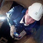 Rilevatori di gas misurando nei tubi.