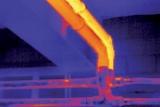 Immagine di una conduttura di vapore ripresa da una telecamera di ispezione termica